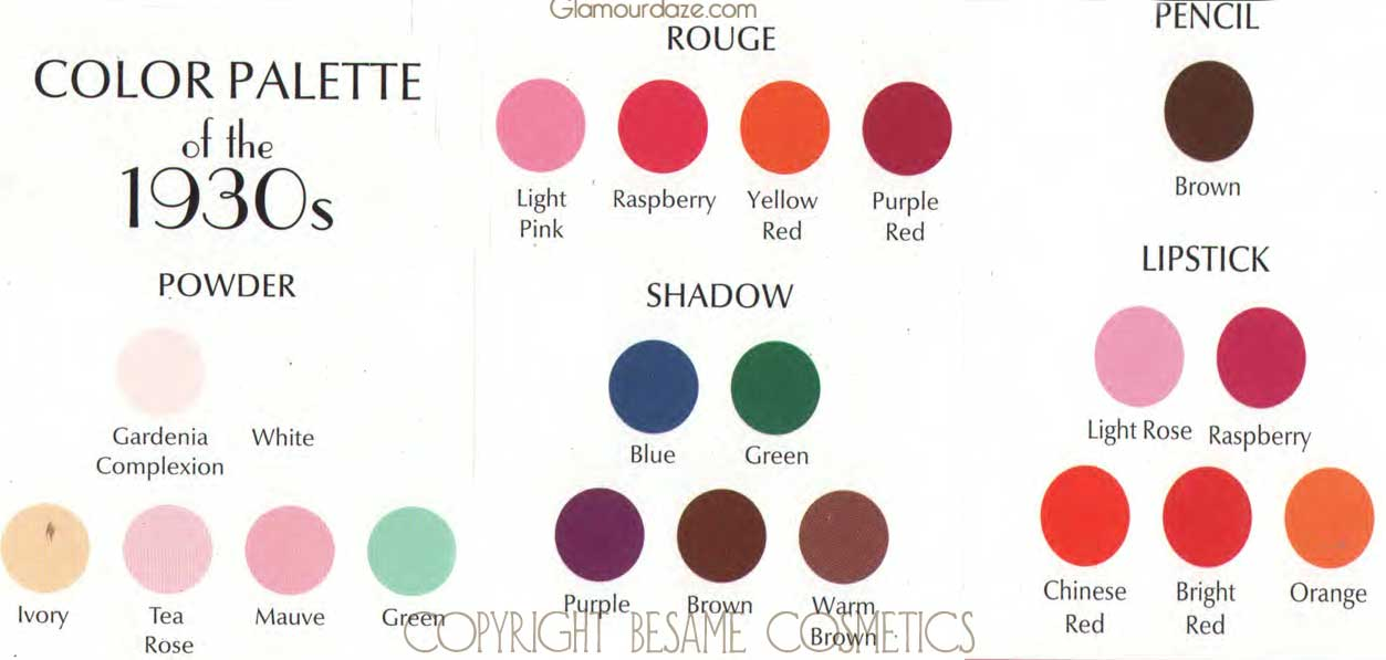 1930s Make Up Colours Maba11